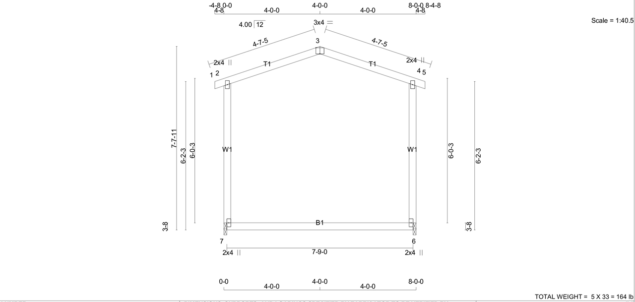 Gabel Style Shed at Westwood Truss